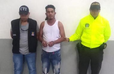 Harold García Borrero, capturado.