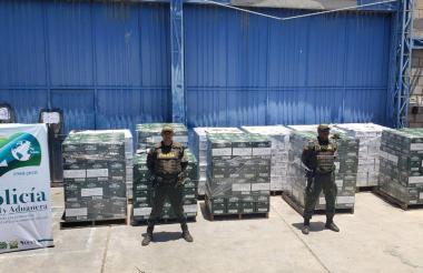 Mercancía de contrabando decomisada.