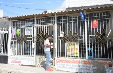 En este café-internet ubicado en el barrio villa Olímpica, en Galapa, ocurrió el homicidio de Cecilia Iriarte, de 66 años.