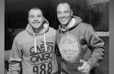 Cafú (derecha) con su hijo Danilo.