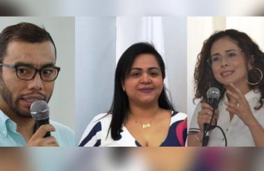 Armando Parrales,  Zugel Camargo y Diana Villalba.