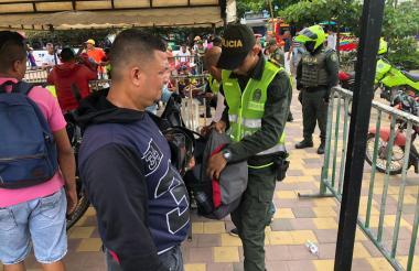 Aspecto de los operativos realizados ayer por la Policía en el suroriente.