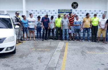 Capturados en los municipios de Sincelejo y Sampués.