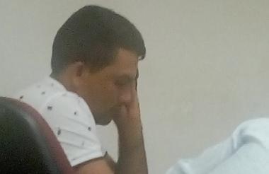 Éider Téllez, capturado, durante la audiencia de ayer.