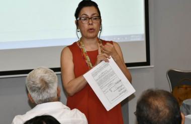 Marta Ruiz, de la Comisión de la Verdad del Caribe.