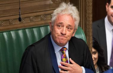 El presidente de la Cámara de los Comunes, el conservador John Bercow.