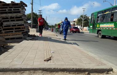 Calle 17 con carrera 35 del barrio Rebolo, sector conocido como 'los Tres postes', donde ocurrió el atentado a bala.