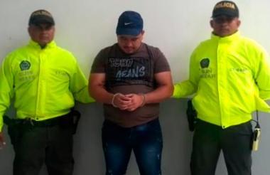 Jonathan Alejandro González, alias el Calvo, capturado por la Policía.