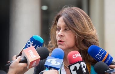La vicepresidenta Marta Lucía Ramírez.