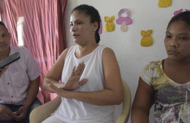 Jair Hernández, Farizada Donado y Raiza Moreno.