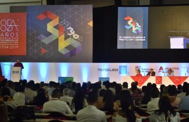 Aspecto de la instalación del 36° Congreso de Colombiano de Arquitectura y Urbanismo.