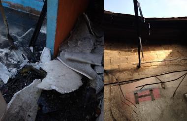 Las viviendas afectadas también sufrieron daños en el techo.