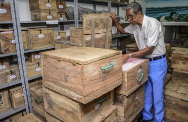Las piezas trasladadas a Malambo aún se conservan en las cajas debidamente protegidas.