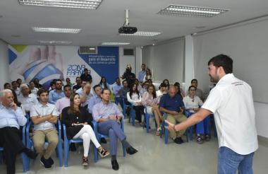 Jaime Pumarejo en la Zona Franca.