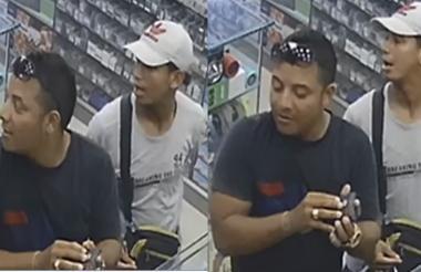Secuencia de imágenes captadas en un video donde aparecen William Torres (izq) y su presunto asesino.