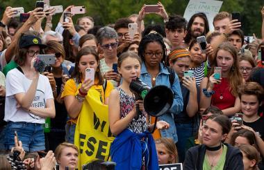 La joven militante ecologista sueca Greta Thunberg.