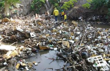 Llantas, botellas de plástico y desechables, entre otros, son sacados del río Manzanares por fundaciones ambientalistas.