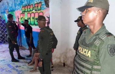 La Policía de Cartagena en los operativos de sábado.