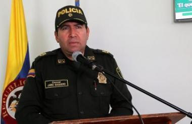 El comandante de la Policía de Córdoba, Jairo Baquero Puentes.