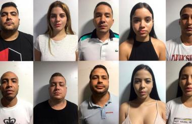 Diez de las 11 personas que fueron capturadas el domingo en un hotel en el norte de la ciudad.