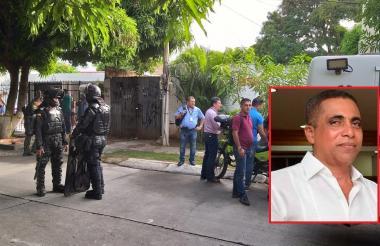 Lugar donde se registró el homicidio del médico Walfran Suárez Infante (en el recuadro).