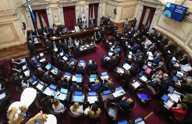 Recinto del senado argentino en sesiones.