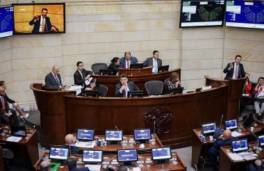 Aspecto del Congreso de la República.