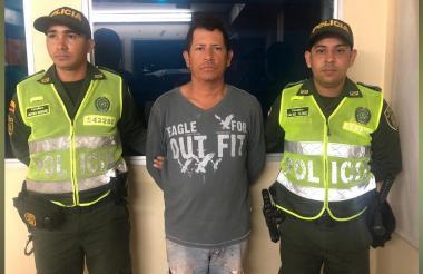 Yonny González, señalado agresor que fue capturado por la Policía Metropolitana.