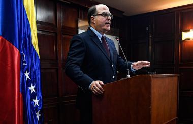 """Julio Borges, """"comisionado de relaciones exteriores"""" del opositor venezolano Juan Guaidó."""
