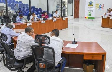Aspecto de una sesión del Concejo Distrital.