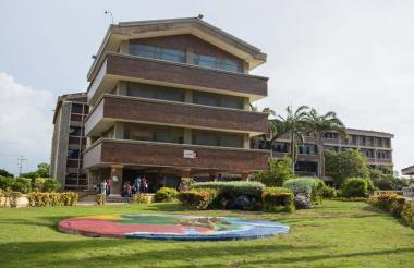 Imagen de uno de los bloques de la Universidad del Atlántico.