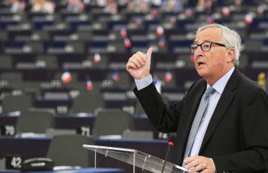 Jean-Claude Juncker, presidente  de la Comisión Europea, en una presentación.