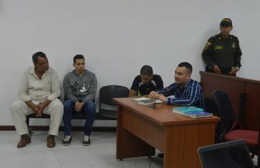 Los procesados durante la audiencia de legalización de captura.