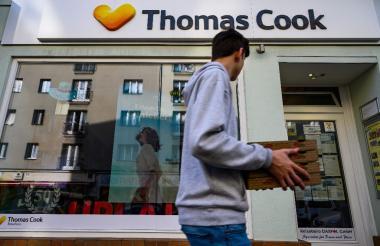 Fachada de la operadora de turismo Thomas Cook.