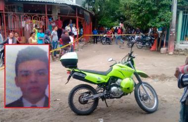 Lugar donde se registró el homicidio de Joel Andrés Mercado Castro (en el recuadro).