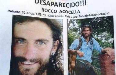 La familia de Rocco lo busca en Montería con estos volantes.