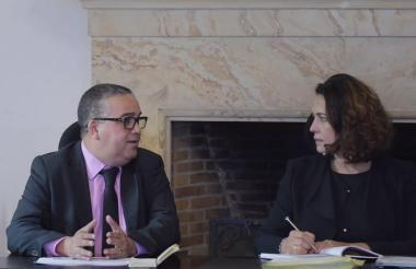 El alcalde Pedrito Pereira y la ministra Nancy Gutiérrez