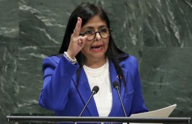 Delcy Rodríguez, vicepresidenta de Venezuela.