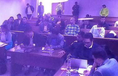 Aspecto de la audiencia de imputación de cargos a los indiciados.