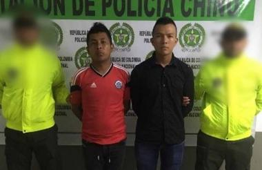 José Padilla y Darwin Suárez, capturados.