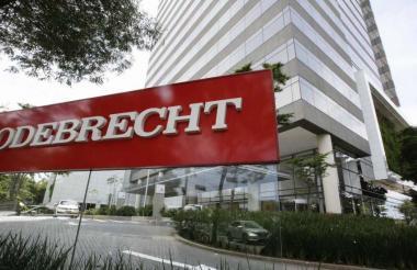 Fachada de la oficina de Odebrecht en Sao Paulo, Brasil.