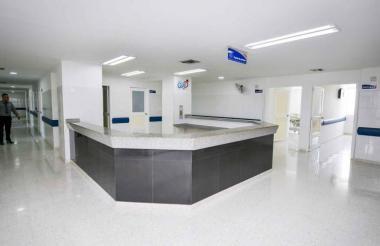 Interior de la sede de alta complejidad del hospital universitario Cari E.S.E.