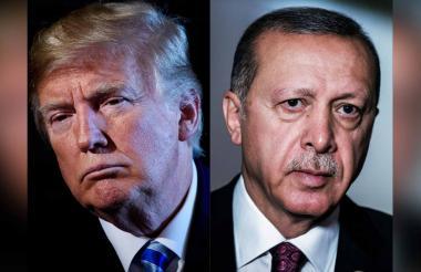 Donald Trump y el presidente turco Recep Tayyip Erdogan.