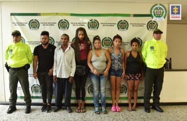 Seis de los ocho capturados.