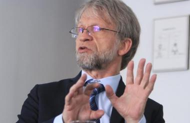 Antanas Mockus, senador por el Partido Alianza verde.