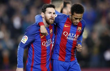 Messi junto a Neymar.