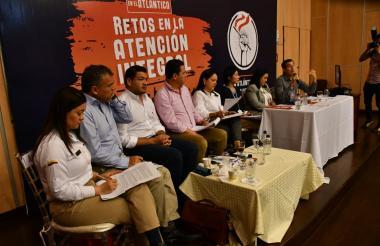 Panel sobre el tema de migración de venezolanos que se realizó en la Universidad del Norte.