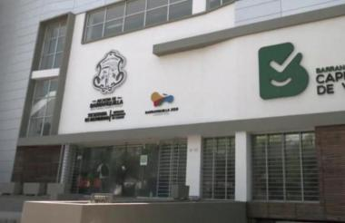 Fachada de la oficina de la Secretaría de Tránsito.