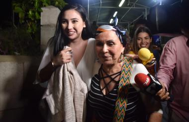 Aida Victoria a su llegada  Barranquilla, fue recibida por su abuela materna.