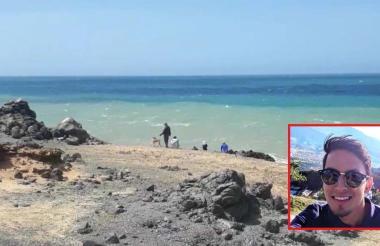 Área del Cabo de la Vela donde cayó Gleen Rodríguez.